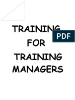 Training for Training Manager