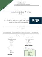13-AT_Leganti, Malte e Calcestruzzi_12-13 - Corso  Architettura Tecnica