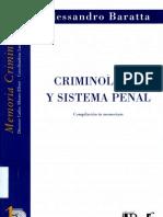 Criminologia y Sistema Penal de Alessandro Baratta