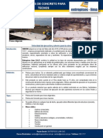 Ficha Técnica  Prelosas para techos Entrepisos Lima - UNICON