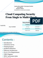 Cloud Computing Security From Single to Multi-Clouds
