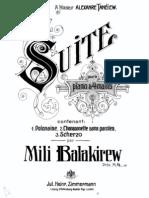Balakirev - Suite a Cuatro Manos
