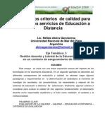 3 Algunos Criterios de Calidad Para Evaluar Los Servicios de Eduacion a Distancia Garciarena