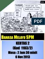 Teknik Menjawab BM SPM Kertas 2 2013
