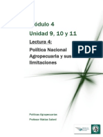 Lectura 4 Política Nacional Agropecuaria y sus limitaciones