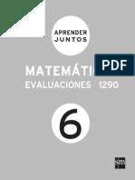 Aprender Juntos Matematicas 6 Evaluaciones