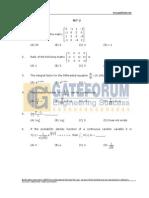 Engineering Mathematics- Sample Questions- Set-2