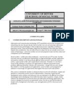 The University of Denver Graduate School of Social Work