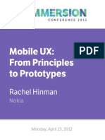 Mobile UX- From Principles to Prototypes