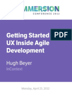 Ge!Ing Started With UX Inside Agile Development