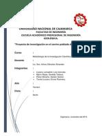 Proyecto de Investigación en Pariamarca.