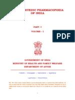 THE AYURVEDIC PHARMACOPOEIA OF INDIA vol-1