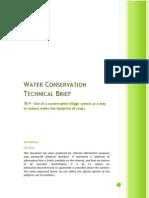 Use of a Conservation Tillage System