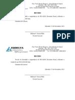 Modelo Recibo Eqdelta - Everaldo - Padaria - Hd