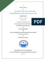 Stabilization of Black Cotton Soil