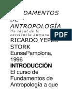 FUNDAMENTOS DE ANTROPOLOGÍA