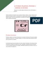 Como calcular el número de protones