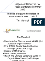 The Use of Organic Herbicides