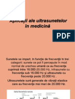 Aplicatii Ale Ultrasunetelor in Medicina
