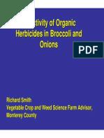 Selectivity of Organic Herbicides