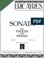 Ayres - Violin Sonata - Vl Pf