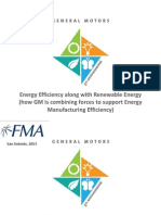 General Motors - Energy Efficiency along with Renewable Energy