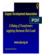 K Rating of Transformers Supplying Harmonic Rich Loads