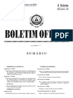 Decreto Lei 68-2005- Regime Jurídico do comércio externo