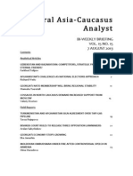 Central Asia Caucasus Analyst - August 2013