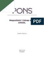 Pons Angol 1honap