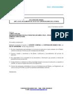 DECLARACIÓN JURADA ARTÍCULO 42