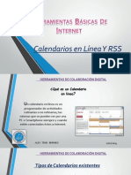 Calendarios en Linea y Rss