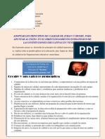 ADOPTAR LOS PRINCIPIOS DE CALIDAD DE JURAN Y CROSBY, PARA APUNTAR AL ÉXITO  EN EL DIRECCIONAMIENTO ESTRATEGICO DE LAS INSTITUCIONES EDUCATIVAS EN VENEZUELA