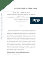 Jasra Methods Options Pricing