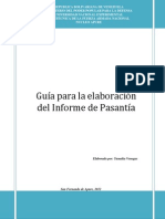 Guia Para Elaboracion Del Informe de Pasantias Largas 2012-i