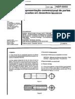 NBR - 8993 - Representação conventional de partes roscadas em desenho técnico