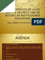 Ley 1620 y Decreto 1965 Acoso Escolar
