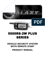 Scytek GALAXY 5000RS-2W PLUS Vehicle Security System With Remote Start Product Manual