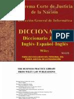 Diccionario Jurídico Inglés-Español-Inglés