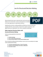 6 Guidelines for Structured Decision Making by EC