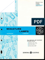 GE Miniature Lamp Catalog 1970