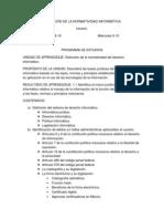 APLICACIÓN DE LA NORMATIVIDAD INFORMÁTICA
