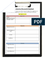 south america research handout