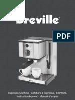 Breville ESP6SXL Manual