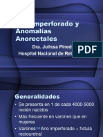 Ano Imperforado y Anomalías Anorectales