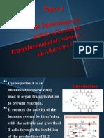 The Immunosuppressive activity of the aldehydic transformation of Cyclosporine on Alloreactive T-Cells