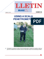 BU438 BRANZ Using a Scala Penetrometer