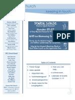 Newsletter - October 11, 2009