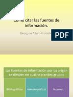 Cómo citar las fuentes de información