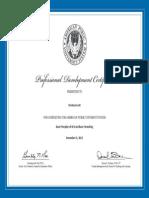 apa certificate